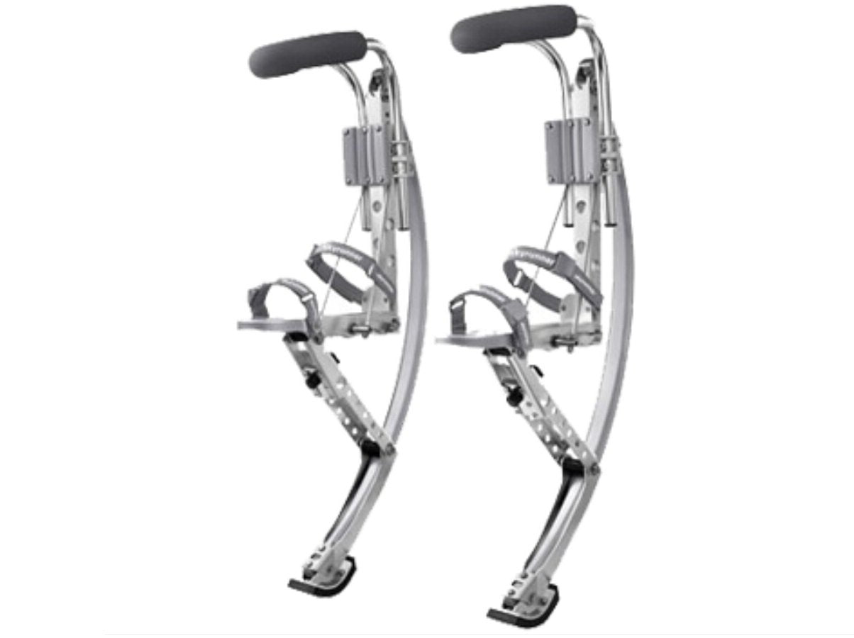 Adult Kangaroo Shoes Jumping Stilts Men Women Fitness Exercise (155~200 Ibs/70~90kg) Bouncing Shoes (Silver)