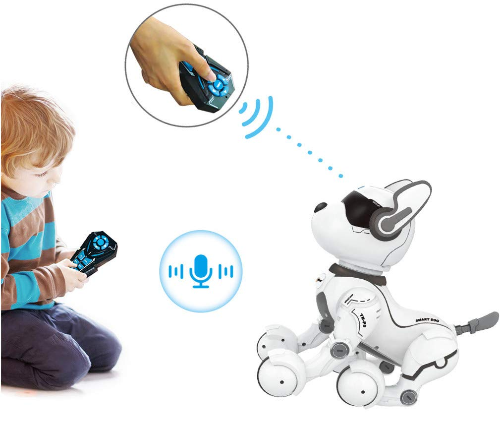 Top Race Remote Control Robot Dog Toy for Kids /& Smart Dancing Puppy Robot