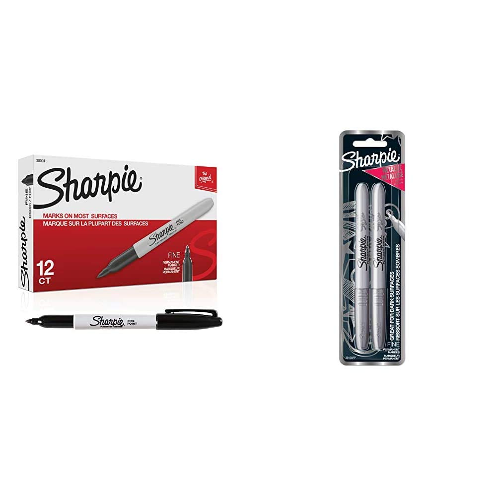 1 Blister Pack with 39108PP Fine Point Metallic Silver Permanent Marker