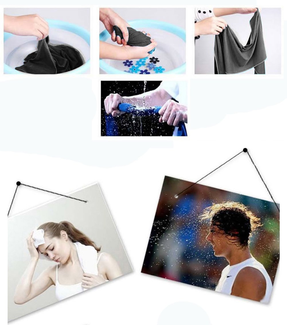NKTM Cooling Towel Chilly Pad (Pack of 2) Ice Scarf Bandana for Running Biking Hiking Gym Yoga Golf Working in Hot Environment
