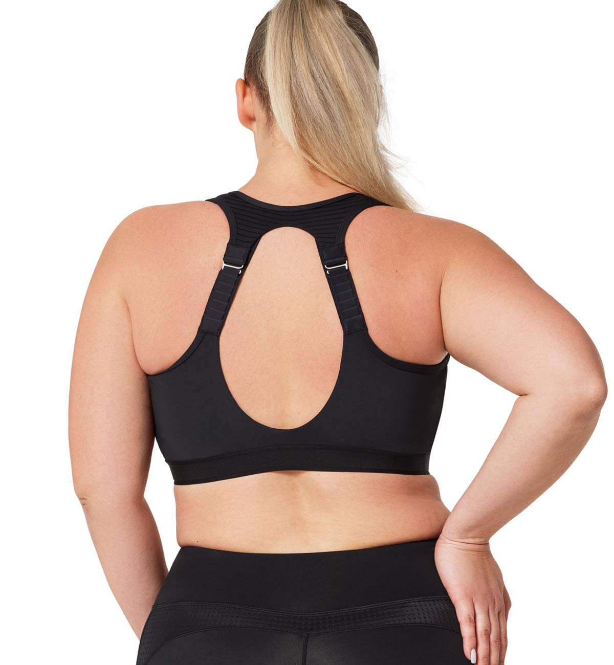 Yvette Breast Support Band Adjustable High Impact Sports Bra Strap No-Bounce
