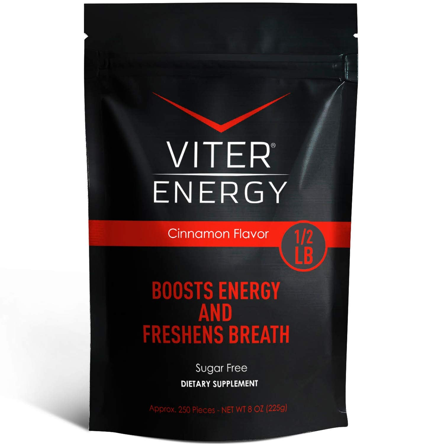 Viter Energy Caffeinated Mints - 40mg Caffeine, B Vitamins, Sugar Free Vegan Breath Mint. Powerful Energizing Boost. 2 Energy Mints Replace 1 Coffee, Gum, Chews, Gummies, Candy (Cinnamon Bulk Bag)