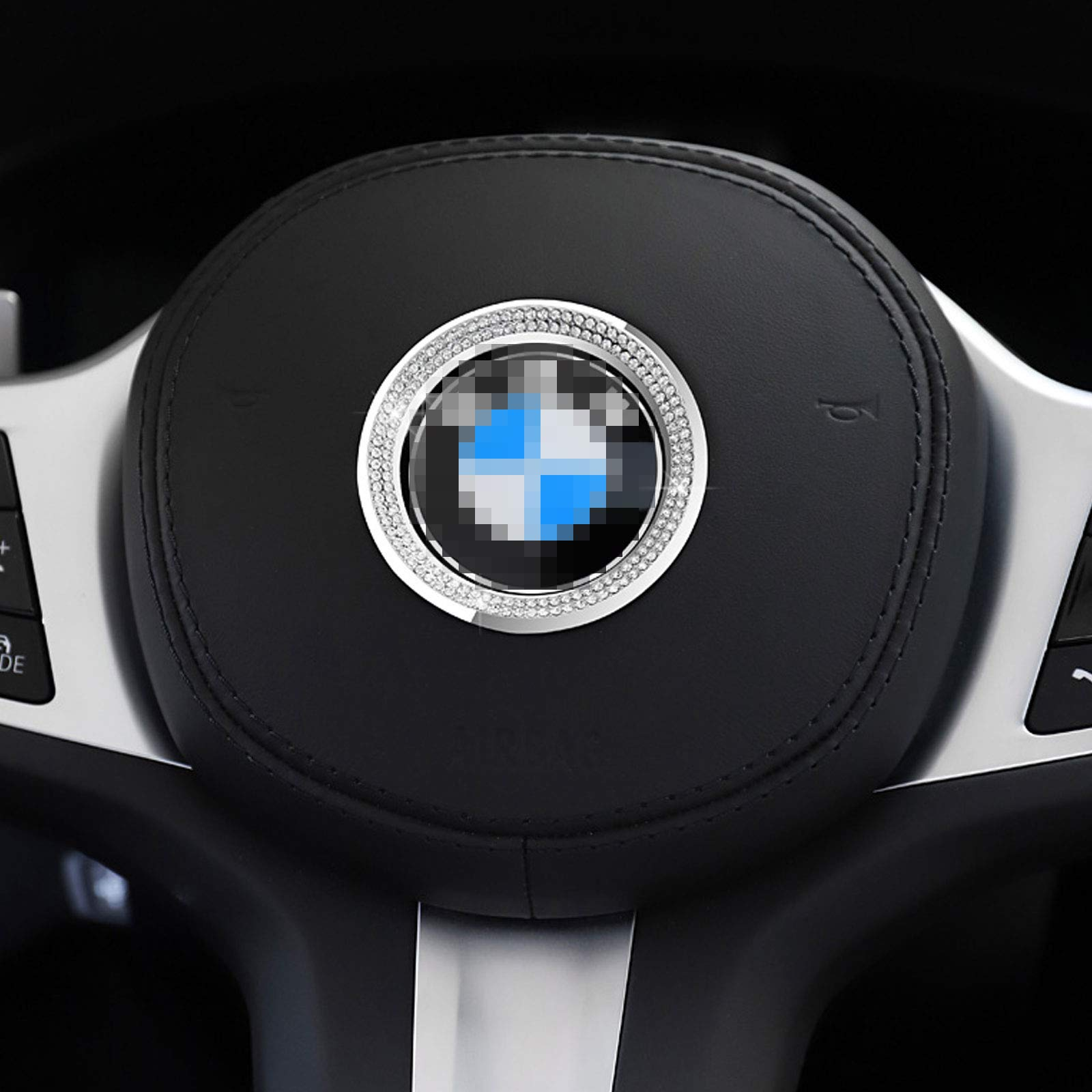 Steering Wheel Logo Caps for BMW Accessories Parts 45mm Trim ...