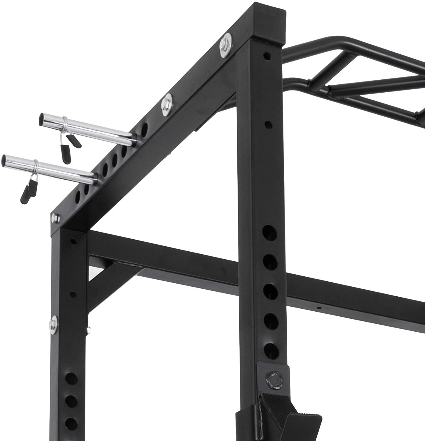 Happybuy Multi-Grip Chin-Up Fitness Power Rock Power Racks Weightlifting Power Rack Olympic Squat Cage Power Rack Cage System with Adjustable Bar for Home Gym (BD-41)