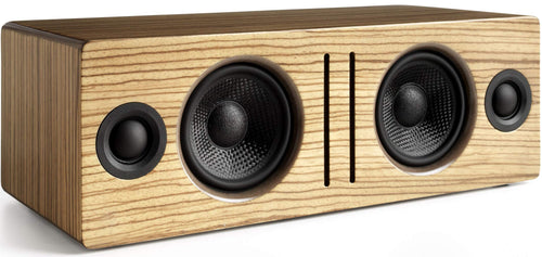 Audioengine B2 Wireless Bluetooth Speaker | Home Music System Desktop Speaker with aptX Bluetooth, 60W Powered Wireless Tabletop Speaker | AUX Audio Input for Phone, Tablet, Computer (Zebrawood)