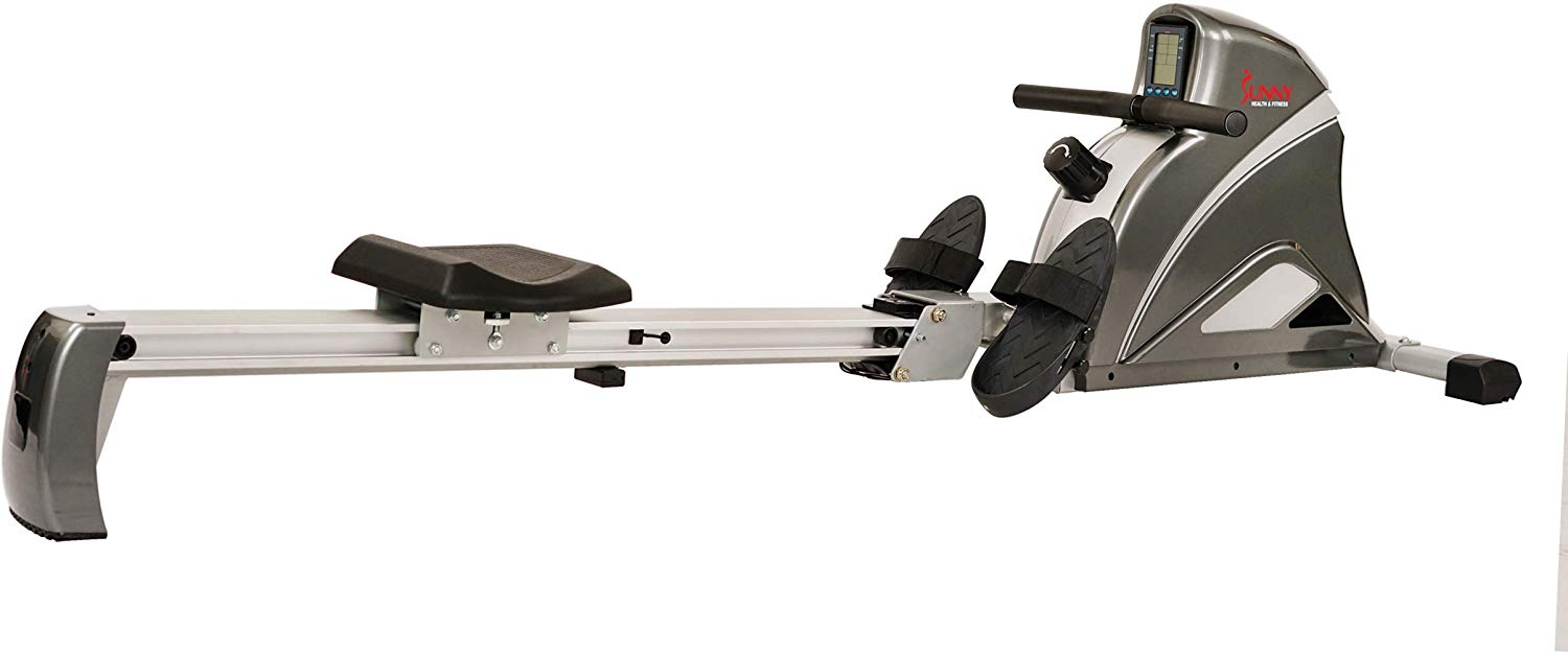 Sunny Health & Fitness Pro Rowing Machine Rower Ergometer with 10 Levels of Magnetic Resistance, Digital Monitor, 300 LB Weight Capacity - SF-RW5508