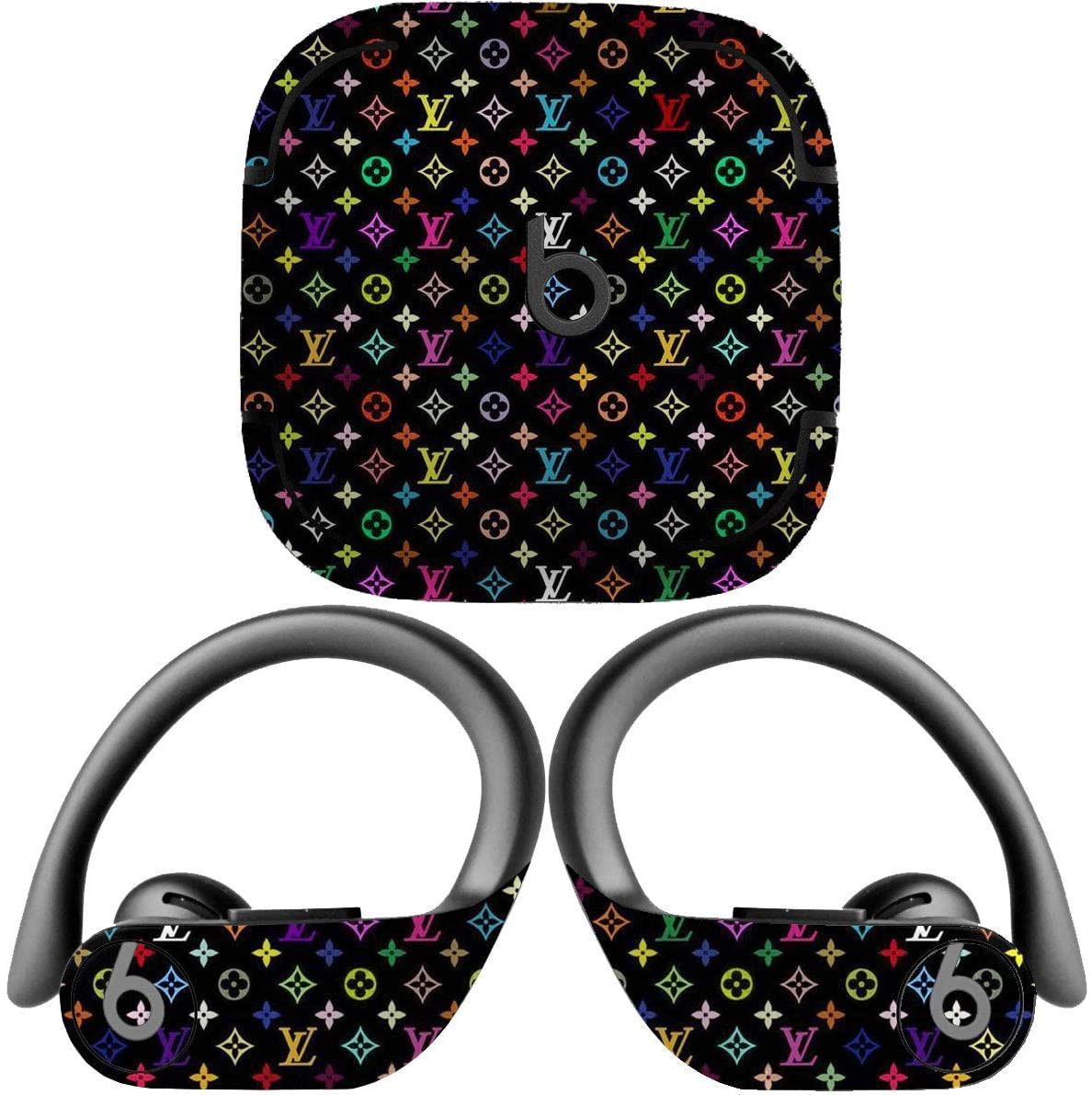 Decal Kid Skin for Beats by Dre Powerbeats Pro - Design 17 | Protective, Durable, Unique Vinyl Decal wrap Cover | Easy to Apply, Remove, and Change Styles and Change Styles