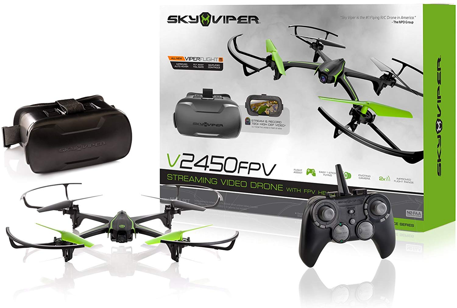 Sky Viper v2450FPV Streaming Drone with FPV Goggles
