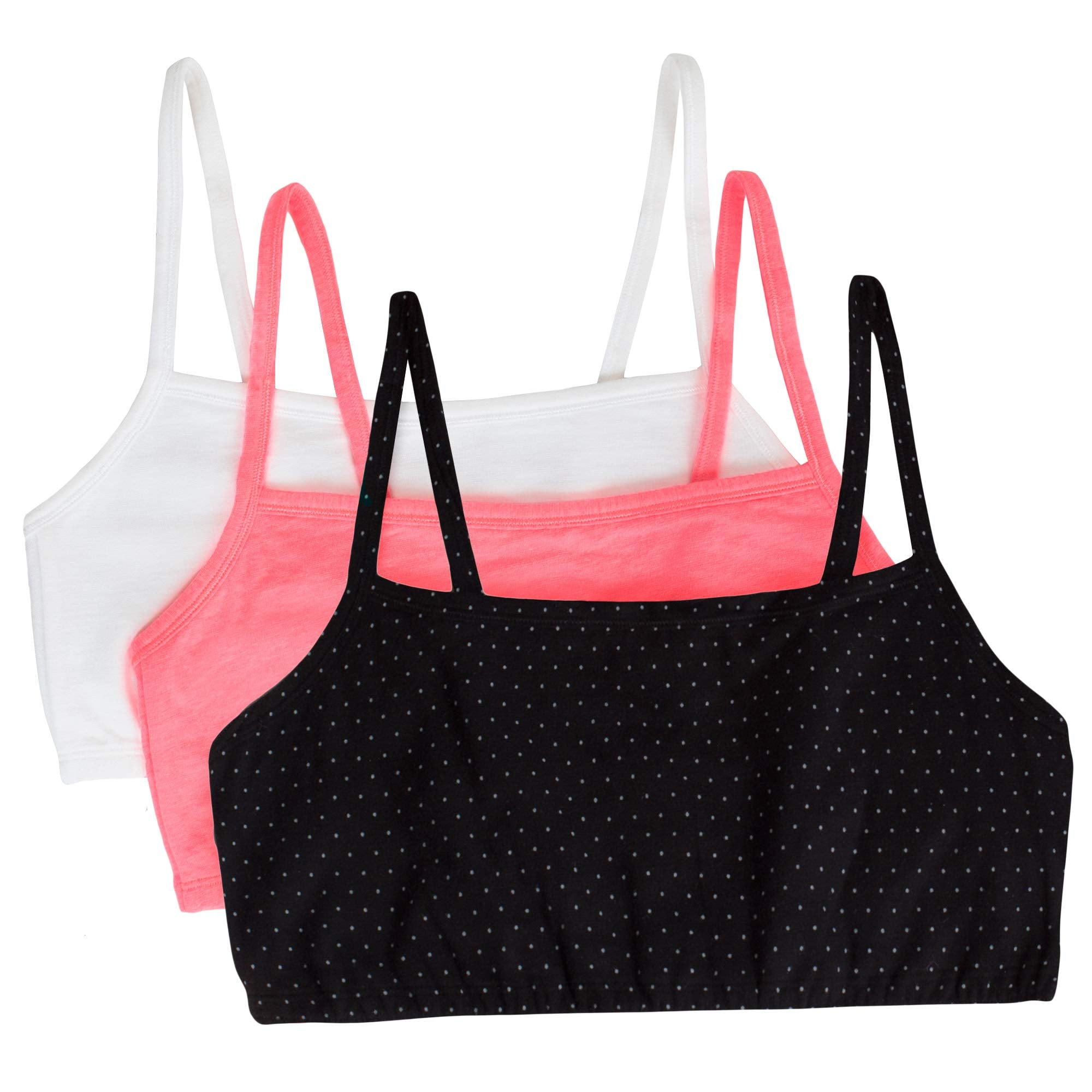 Red and passion fuit Women Sports Bra strappy size 36 Style 9036 3-Pack Black