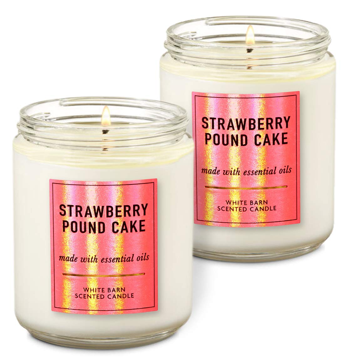 198 g each Pack of 2 Bath /& Body Works In The Stars Single Wick Scented Candle with Essential Oils 7 oz