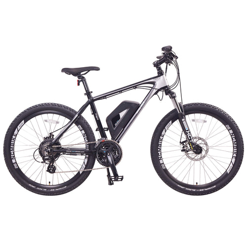 "NCM Prague Electric Mountain Bike, 350W Powerful Hub Motor, Large Capacity Removable Lithium Battery (36V 13 Ah), Disc Brake, 21 Speed Gear, (Black/White, 26""/27.5""/29"" Wheels), 20-40+ Miles"