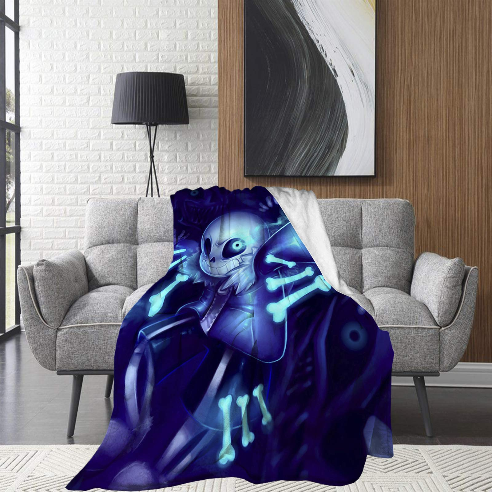 Yuanjutang Undertale Sans Ultra-Soft Micro Fleece Blanket Home Cozy Warm Throw Blankets for Couch Bed Sofa 50