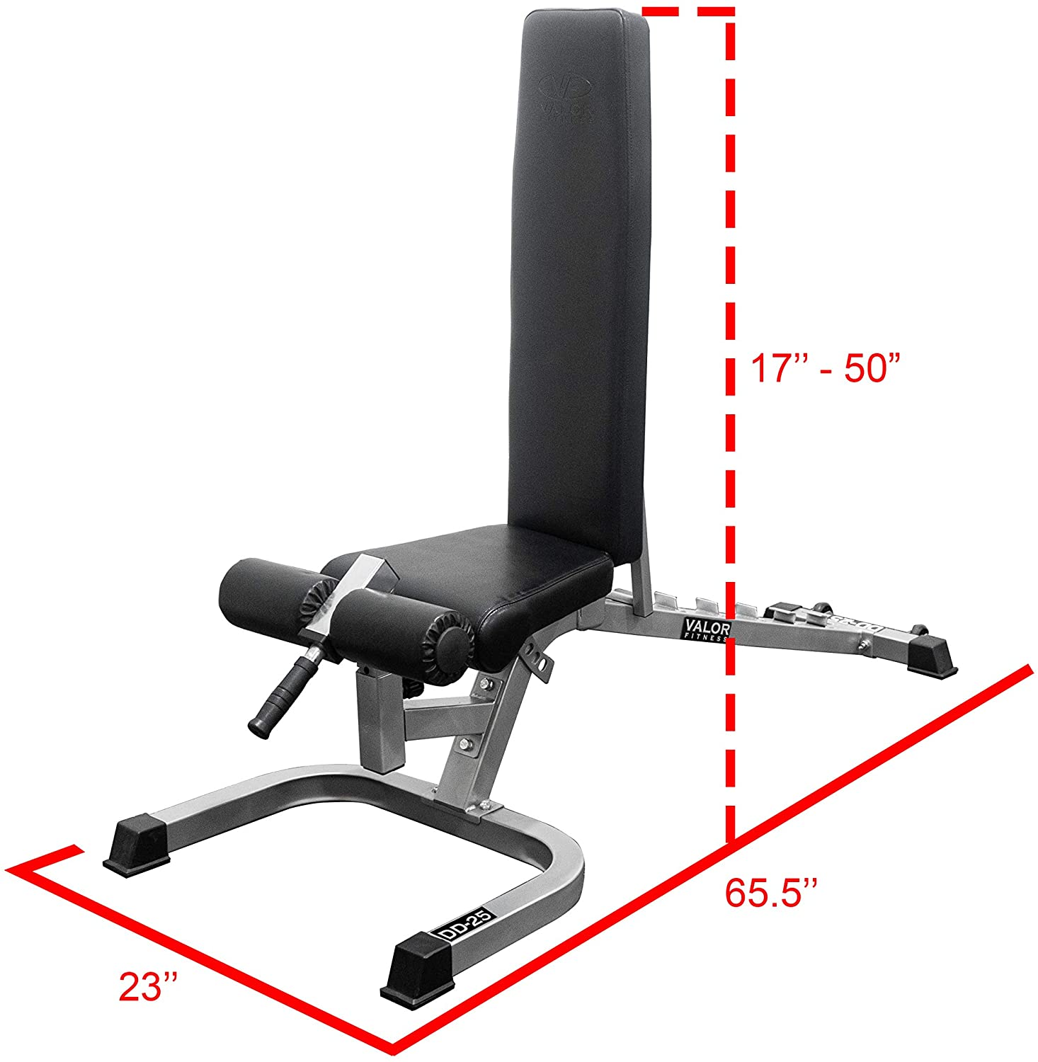 Valor Fitness Adjustable Weight Bench Flat, Incline, Decline Bench Press with Leg Support - Great Workout Benches for Home