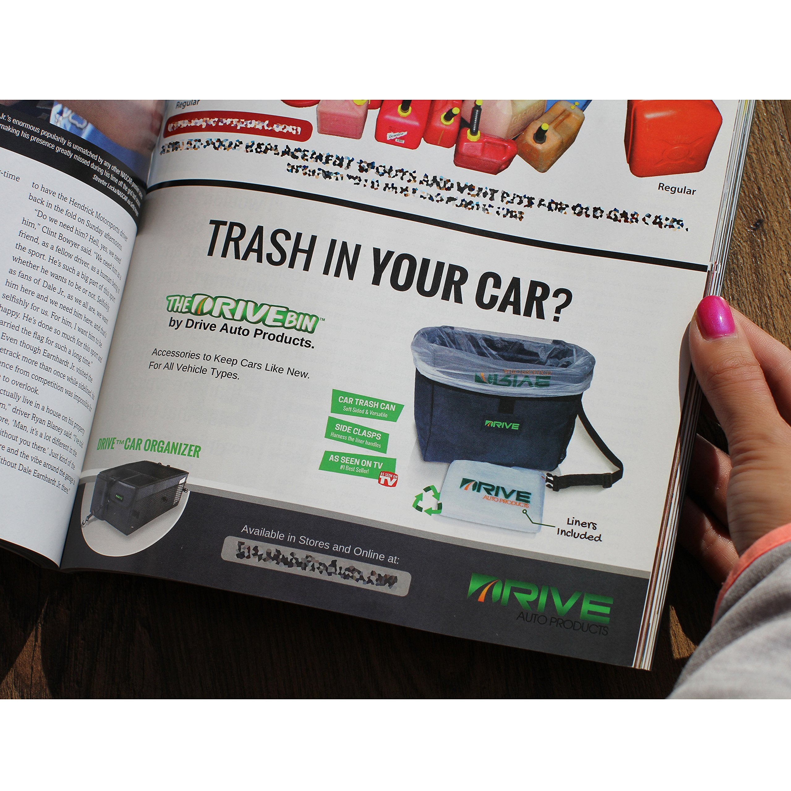 Car Garbage Can, Liner Refills (40-Pack) - The Drive Bin As Seen On TV Collection by Drive Auto Products