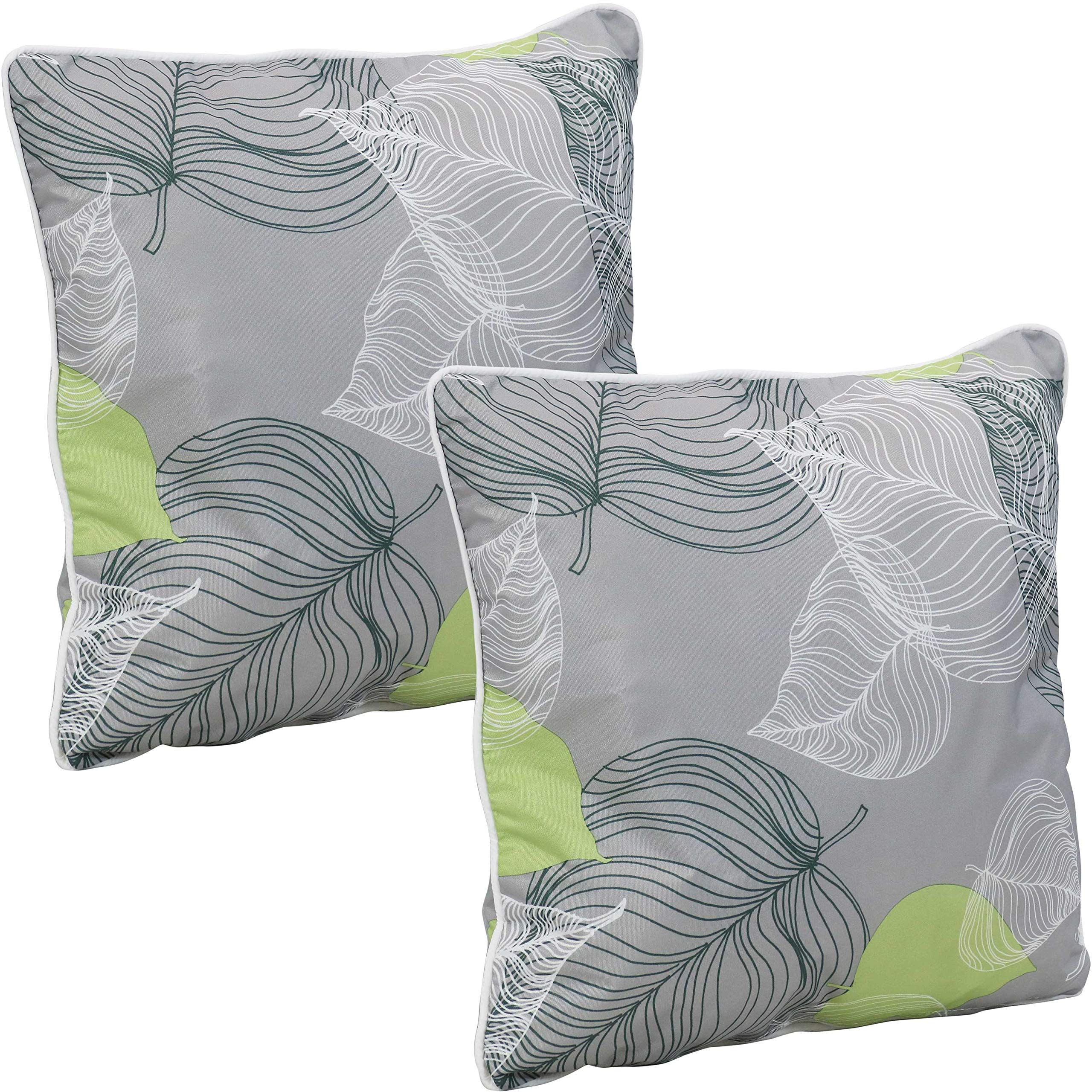Sunnydaze Set of 20 Indoor/Outdoor Decorative Throw Pillows   20 Inch Square  Accent Toss Pillows for Patio Furniture   Pillow Set for Outside Bench, ...