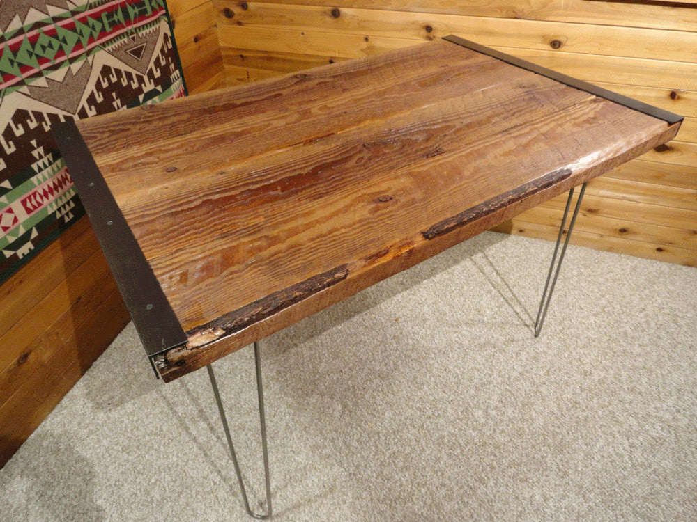 X Reclaimed Industrial Style With Hairpin Legs Mt Hood - 30 x 42 dining table