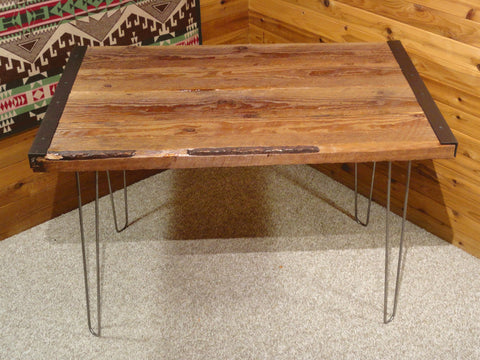 Rustic Restaurant  Tables - Reclaimed Industrial style with Hairpin Legs