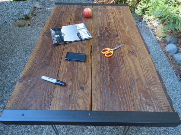 Industrial desk with hairpin legs 24 x 42