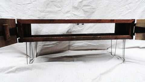 5 ft Industrial credenza media console tv stand with doors and hairpin legs