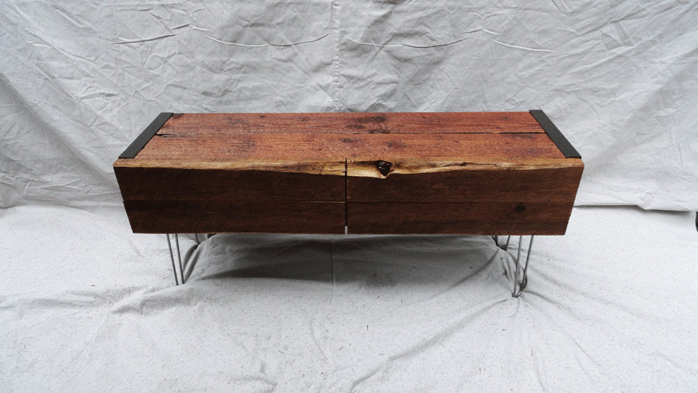 Credenza Console : 3 ft industrial credenza console tv stand with doors and hairpin