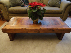 "Old Growth Coffee Table - 4 inch thick top 36"" x 60"" Coffee Stain"
