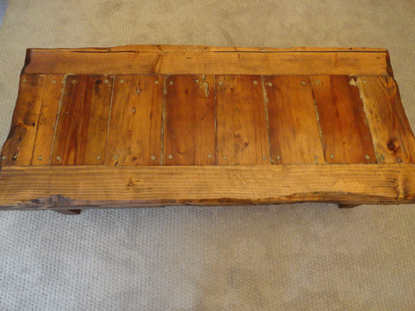 "Old Growth Coffee Table - 4 inch thick top 20"" x 48"""
