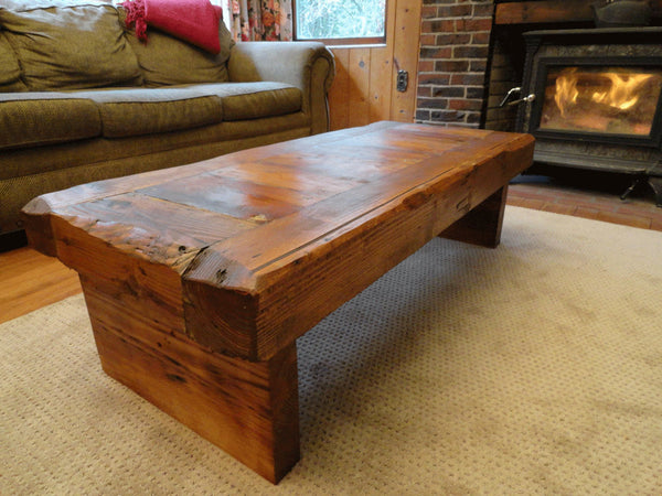 "Old Growth Coffee Table - 4 inch thick top 30"" x 60"" Coffee Stain"