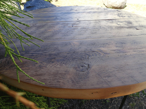 Antique Barnwood - Round Dining Table, 48 inches, 5-6 person