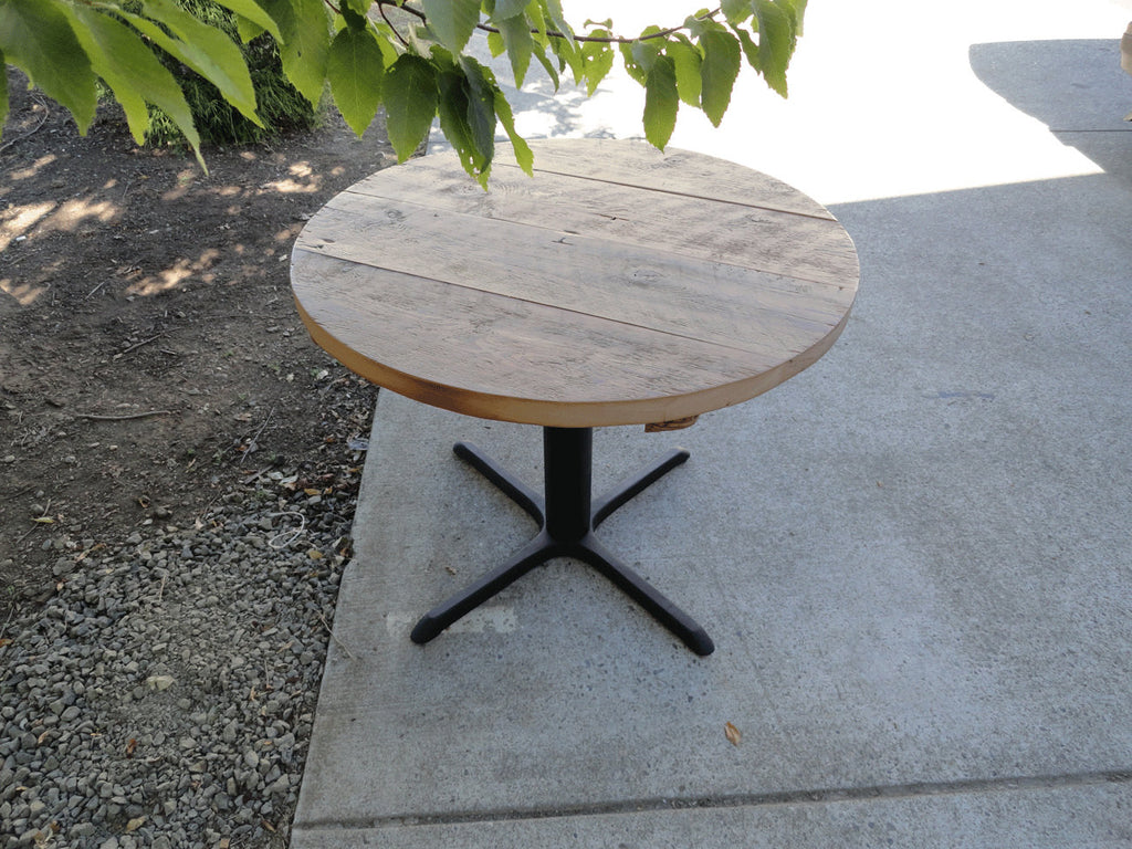 54 Inch Round Restaurant Pedestal Dining Table 5 6 Person Mt Hood Wood Works
