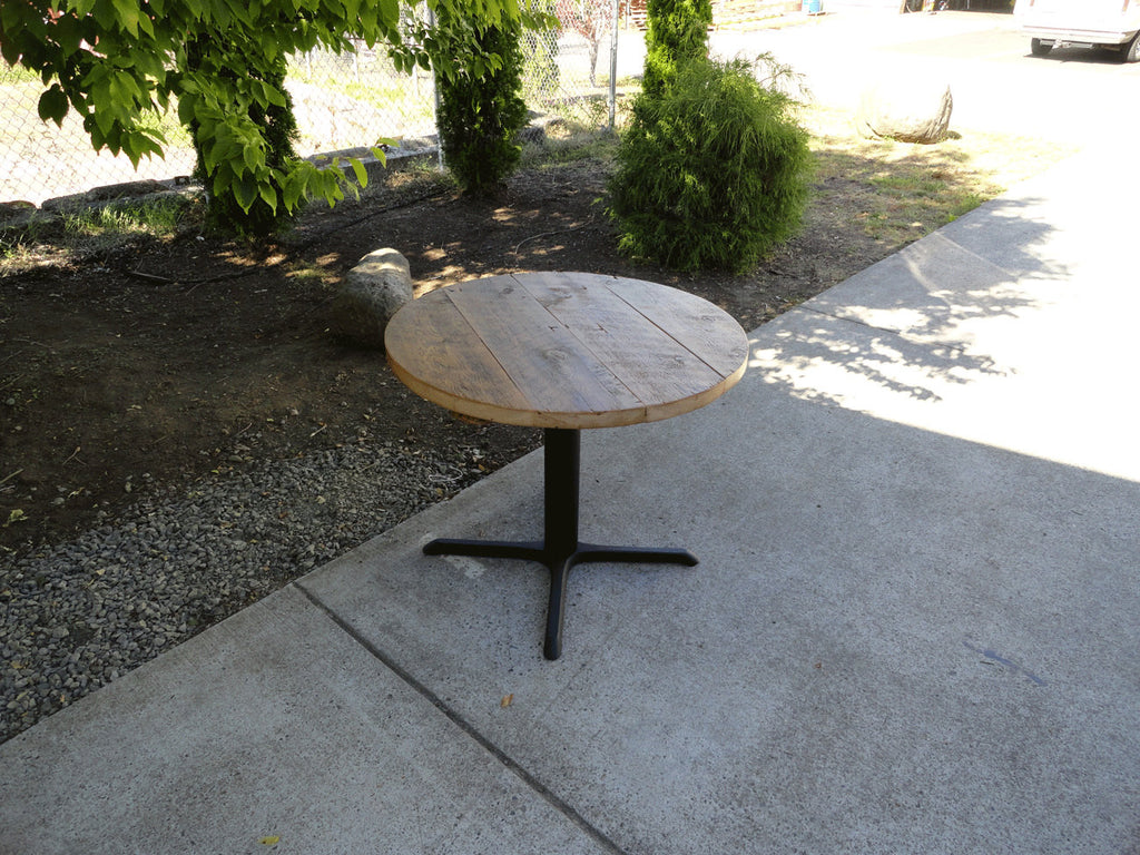 54 Inch Round Restaurant Pedestal Dining Table 5 6 Person Mt Hood