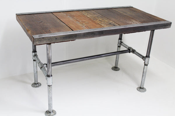30x60 Industrial Desk with pipe legs