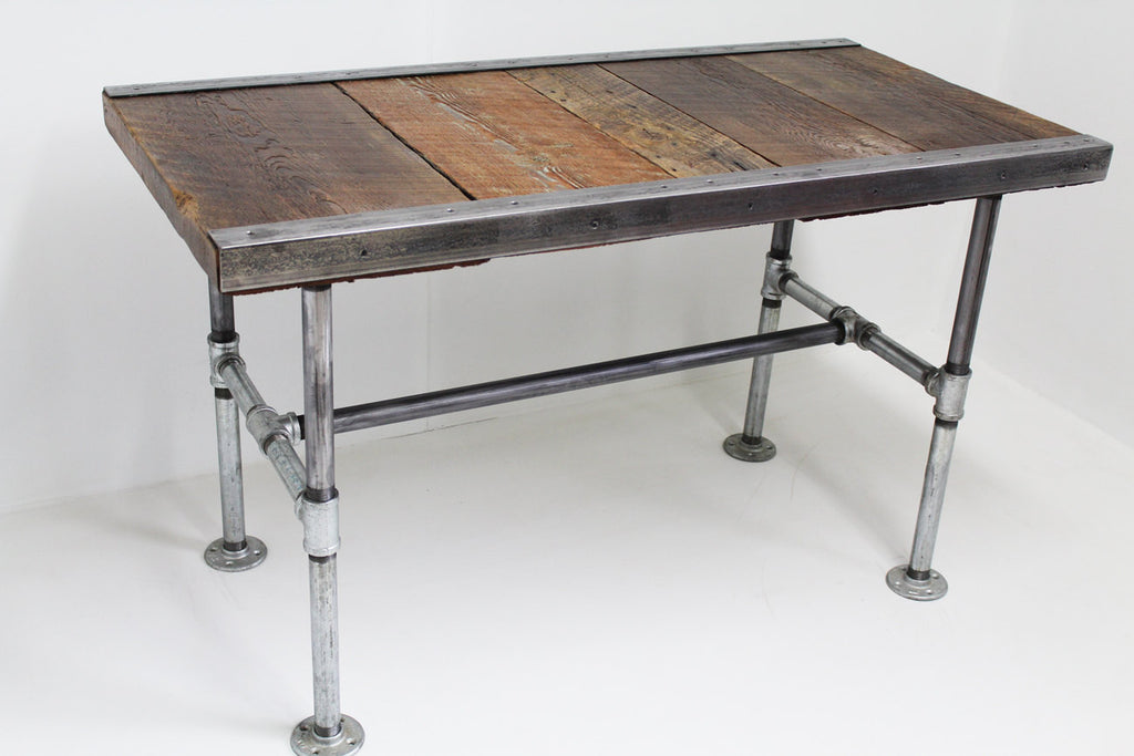 Custom 24x40x18 industrial coffee table with pipe legs for Coffee table 40 x 24