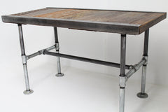 Custom 24x40x18 Industrial Coffee table with pipe legs