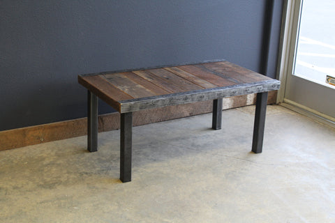 "Custom 30""x60"" Dining Table with Antique Barnwood and matching 48"" Bench"