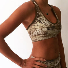KAYLA CROP TOP SNAKE PRINT
