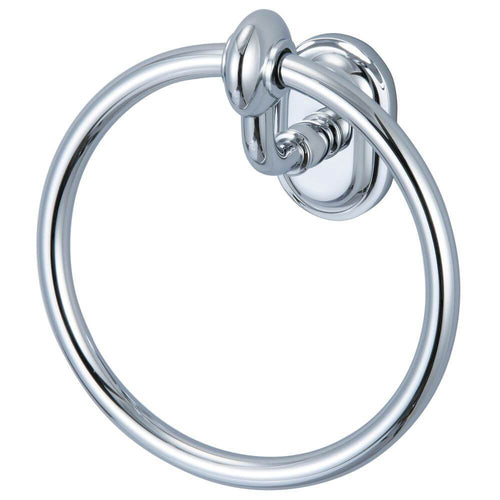 Accessory - Elegant Matching Glass Series Towel Ring In Chrome Finish