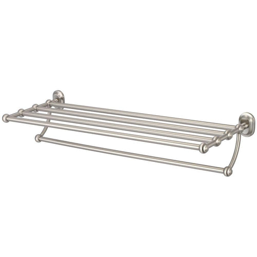 Accessory - Multi-Purpose Bath Train Racks For Classic Bathroom In Brushed Nickel Finish