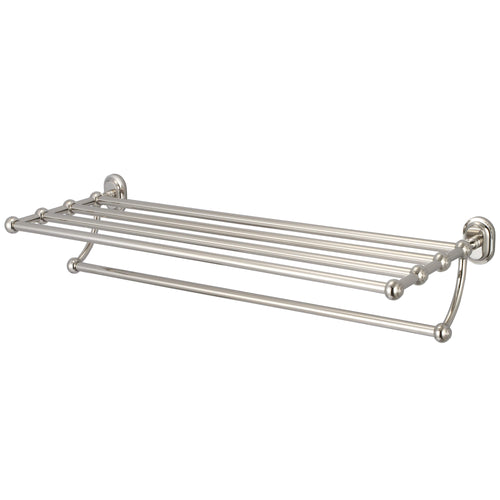 Accessory - Multi-Purpose Bath Train Racks For Classic Bathroom In Polished Nickel Finish