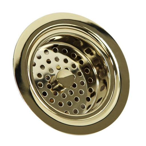 Accessory - Nantucket Sinks Polished Brass 3.5 Inch Kitchen Drain