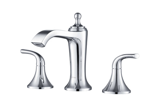 Bathroom Faucet - Stufurhome Brantley Chrome Bathroom Faucet Set In Chrome