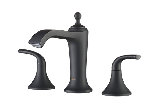 Bathroom Faucet - Stufurhome Brantley Chrome Bathroom Faucet Set In Matte Black