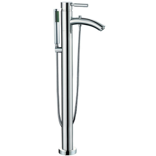 Bathroom Faucet - Taron Modern-Style Bathroom Tub Filler (Floor-mounted) In Polished Chrome