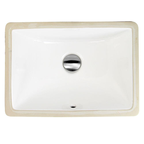 Bathroom Sink - Nantucket Sinks 16 Inch X 11 Inch Undermount Ceramic Sink In White UM-16x11-W