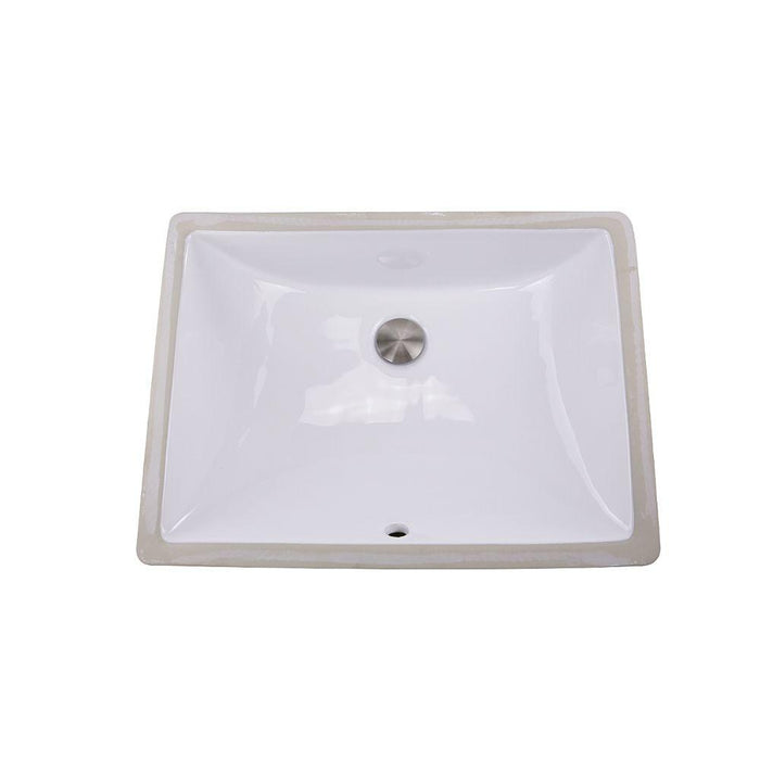 "Bathroom Sink - Nantucket Sinks 18"" X 13"" Undermount Ceramic Sink In White UM-18x13-W"