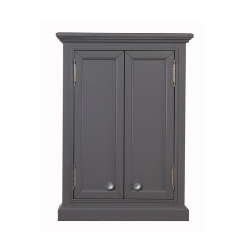 Cabinet - Derby Collection Wall Cabinet In Cashmere Grey