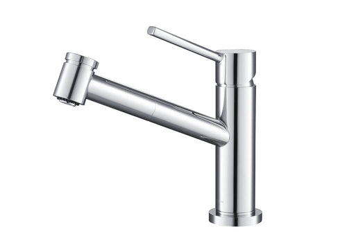 Kitchen Faucet - Stufurhome Metrolux Kitchen Faucet Set Chrome Single-Lever Mixer W/ Spray Head