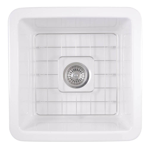 Kitchen Sink - Nantucket Sinks 18-Inch Undermount Fireclay Kitchen Sink Wellfleet-1818W