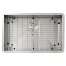 "Load image into Gallery viewer, Kitchen Sink - Nantucket Sinks 28"" Pro Series Large Rectangle Single Bowl Undermount Stainless Steel Kitchen Sink, 8"" Deep"