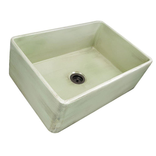 "Kitchen Sink - Nantucket Sinks 30"" Farmhouse Fireclay Sink With Shabby Green Finish"