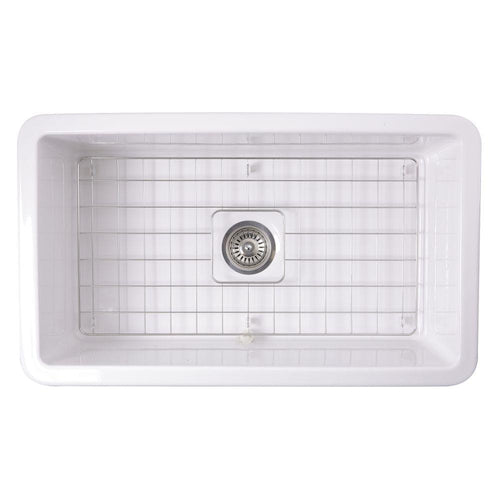 Kitchen Sink - Nantucket Sinks 32-Inch Undermount Fireclay Kitchen Sink